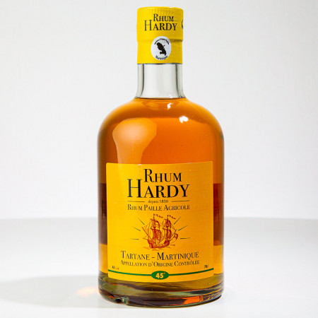 HARDY - Rhum Paille - Goldener Rum - 45° - 70cl