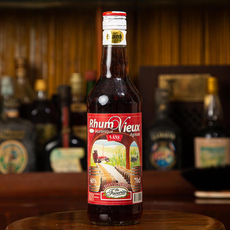 LA FAVORITE - Rhum vieux - 5 ans - Rhum Vintage - 40° - 70cl