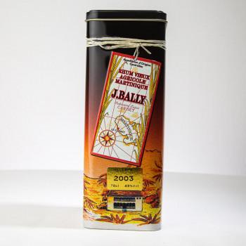 Rhum BALLY - Rhum vieux - Millésime 2003 - 43° - 70cl - boite