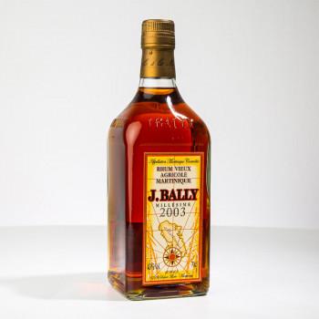 BALLY - Rhum vieux - Millésime 2003 - 43° - 70cl - rhum AOC martinique