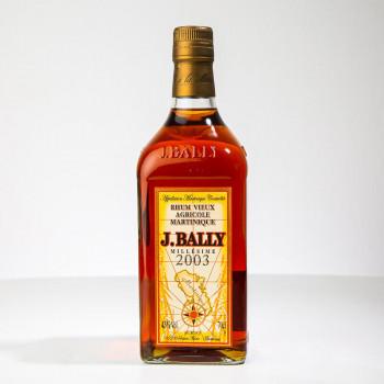 BALLY - Rhum vieux - Millésime 2003 - 43° - 70cl - rhum agricole martinique