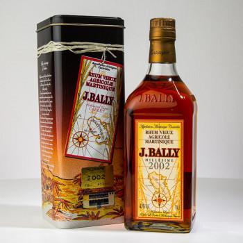 Rhum BALLY - Millésime 2002 - 43° - 70cl