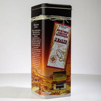 Rhum BALLY - Millésime 2002 - 43° - 70cl - rhum hors d'âge - martinique