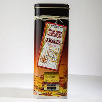 Rhum BALLY - Millésime 2002 - 43° - 70cl - rhum hors d'âge - rhum agricole - rhum martinique