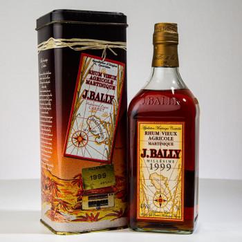 Rhum BALLY - Millésime 1999 - Rhum vieux - 43° - 70cl - boite