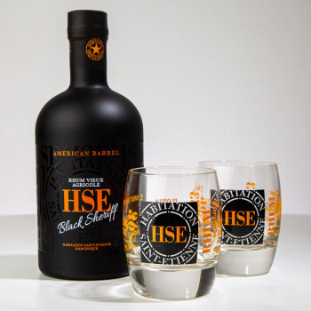 HSE - Coffret Black Sheriff - American Barrel - 40cl - 70cl - martinique