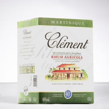 rhum CLEMENT - Rhum blanc - CUBI - 40° - 450cl