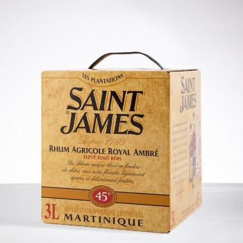 Rhum SAINT JAMES - Elevé sous bois - Rhum Ambré - CUBI - 45° - 300cl