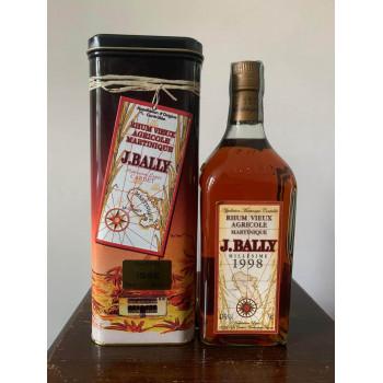 rhum BALLY - Millésime 1998 - Rhum Vintage - 43° - 70cl - martinique