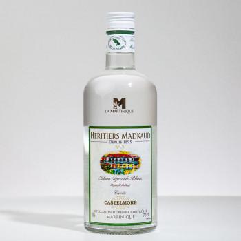 Rhum MADKAUD - Castelmore - Rhum blanc - 50° - 70cl