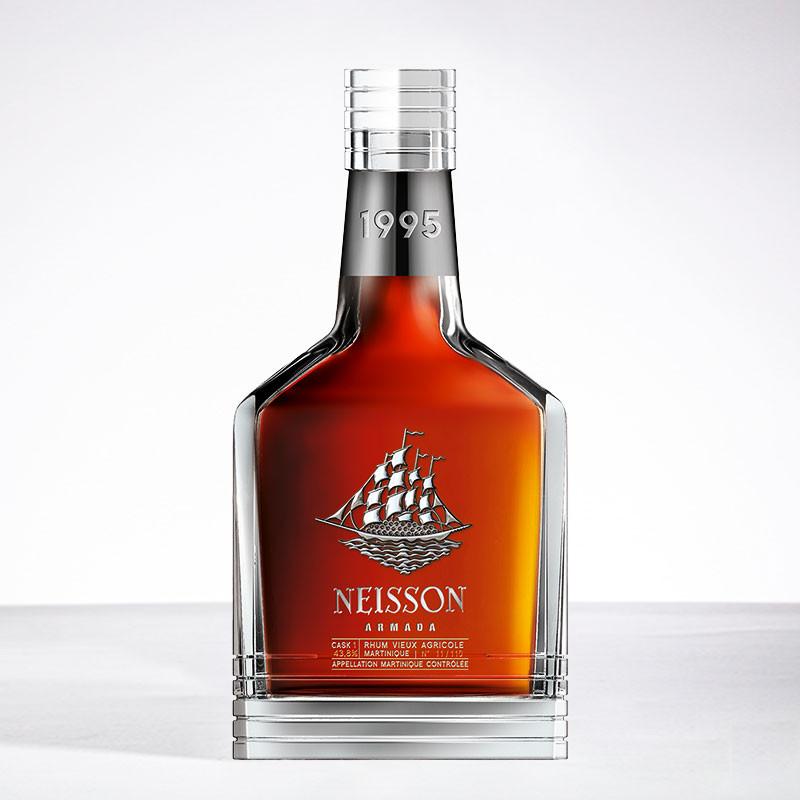 Rhum NEISSON - Armada 1995 - Kristal-Karafe - Extra alter Rum - Rhum aus Martinique