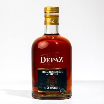 DEPAZ - Millésime 2002 - Rhum hors d'âge - 45° - 70cl