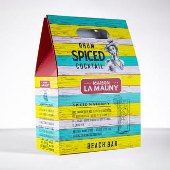 rhum LA MAUNY - Coffret Spiced'n Stormy - Rhum ambré - 40° - 70cl