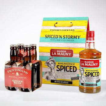 LA MAUNY - Coffret Spiced'n Stormy - Rhum ambré - 40° - 70cl
