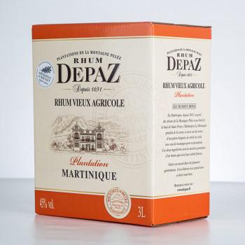 DEPAZ - Plantation - Rhum vieux - 45° - 300cl