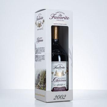 Rhum LA FAVORITE - Millésime 2002 - La réserve du Château - 41,2° - 70cl - Rhum AOC - boite