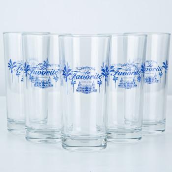LA FAVORITE - VERRES - cocktail - lot de six verres
