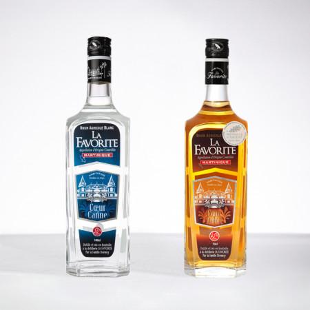 LA FAVORITE - Grands Classiques - 2x70cl - Weißer Rum / Amber Rum