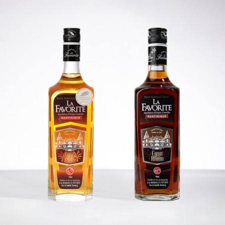 LA FAVORITE - Grands Classiques - 2x70cl - Goldener Rum / Alter Rum