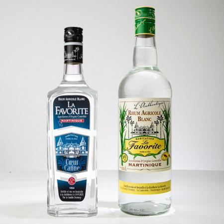 LA FAVORITE - Weisser Rum - 70cl+1L - Coeur de canne / Authentique