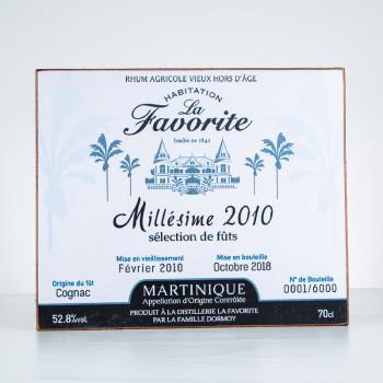 Rhum LA FAVORITE - Plaque décorative - Millésime 2010 - Accessoire rhum