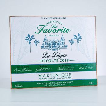 Plaque décorative - LA FAVORITE - La Digue récolte 2018 - Accessoire rhum