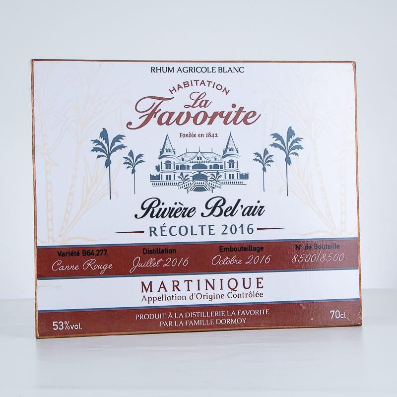 Accessoire LA FAVORITE - Plaque décorative - Rivière Bel'air 2016