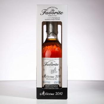 rhum hors d'age - La Favorite - 2010 - Martinique - Brut de fut - AOC - boite