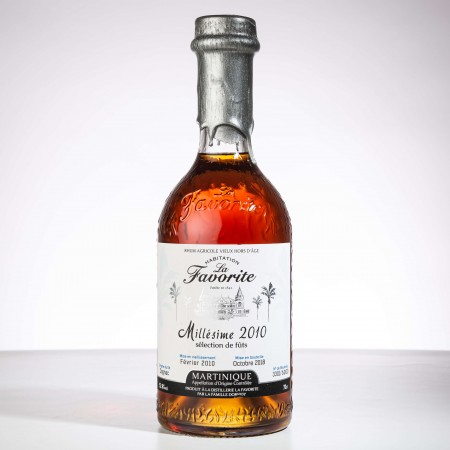 LA FAVORITE - Jahrgang 2010 - Brut de fût - Nummeriert - Extra Alter Rum - 52,8° - 70cl