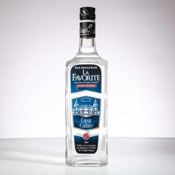 Rhum la favorite - coeur de canne - rhum blanc - rhum agricole - 100cl - martinique