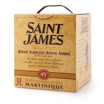 rhum saint james ambré royal - élevé sous bois en cubi 3L