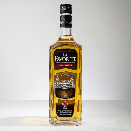 LA FAVORITE - Coeur d'Ambre - Goldener Rum - 45° - 100cl