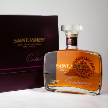 Rhum SAINT JAMES - Quintessence - Carafe - rhum agricole - boite