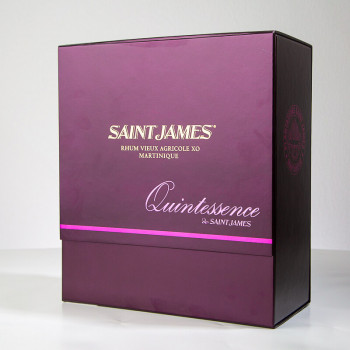 Rhum SAINT JAMES - Quintessence - Carafe - martinique - rhum agricole - pur jus - Boite